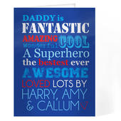 Personalised He Is...Card Add Any Name - Personalise It!