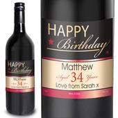 Personalised Happy Birthday Red Wine - Personalise It!