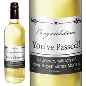 Personalised Black Border White Wine - Personalise It!