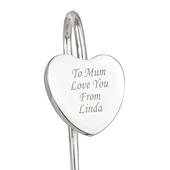 Personalised Silver Heart Bookmark - Personalise It!
