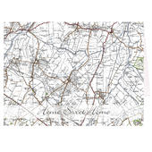 Personalised 1945 - 1948 New Popular Map Card Add Any Name - Personalise It!
