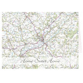 Personalised Present Day Map Card Add Any Name - Personalise It!