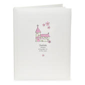 Personalised Whimsical Church Pink Traditional Album - Personalise It!