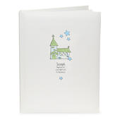 Personalised Whimsical Church Blue Traditional Album - Personalise It!