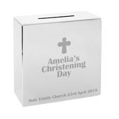 Personalised Cross Square Money Box - Personalise It!