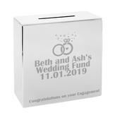 Personalised Rings Square Money Box - Personalise It!