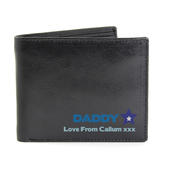 Personalised Blue Worlds Best Dad Leather Wallet - Personalise It!