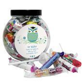 Personalised Mr Teacher Owl Sweet Jar - Personalise It!