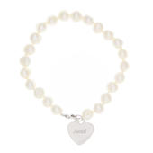 Personalised White Freshwater Pearl Scripted Name Bracelet - Personalise It!