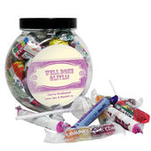 Personalised Vintage Purple Sweet Jar - Personalise It!