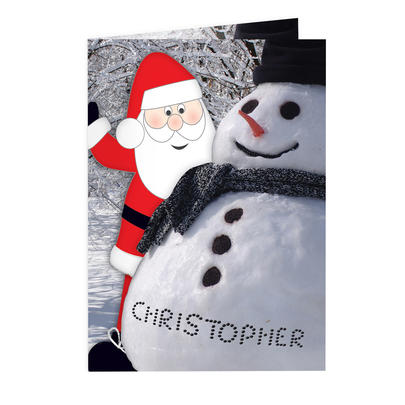 Personalised Card From Santa Add Any Name - Personalise It!