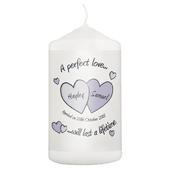 Personalised A Perfect Love Wedding Candle - Personalise It!