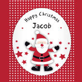 Personalised Spotty Santa Card Add Any Name - Personalise It!