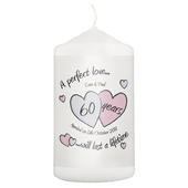 Personalised A Perfect Love Diamond Anniversary Candle - Personalise It!