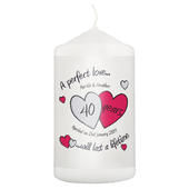 Personalised A Perfect Love Ruby Anniversary Candle - Personalise It!