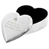 Personalised Teacher Heart Flowers Trinket Box - Personalise It!