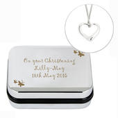 Personalised Butterfly Heart Necklace and Box - Personalise It!