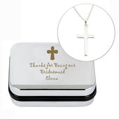Personalised Cross Necklace and Box - Personalise It!