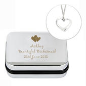 Personalised Heart Necklace and Box - Personalise It!