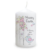 Personalised Daffodil Chick Easter Candle - Personalise It!