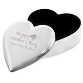Personalised Happy Mothers Day Heart Trinket Box - Personalise It!