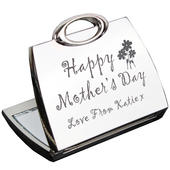 Personalised Happy Mothers Day Compact Mirror - Personalise It!