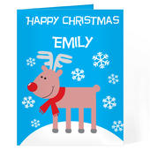 Personalised Rudolph Card Add Any Name - Personalise It!