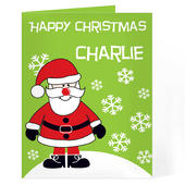 Personalised Santa Card Add Any Name - Personalise It!