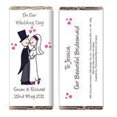 Personalised Cartoon Wedding Milk Chocolate Bar - Personalise It!