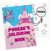 Personalised Princess & Unicorn Colouring Book - Personalise It!