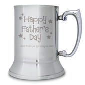 Personalised Happy Father's Day Stars Stainless Steel Tankard - Personalise It!