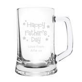 Personalised Happy Father's Day Stars Pint Stern Tankard - Personalise It!