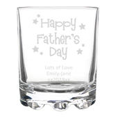 Personalised Happy Father's Day Stars Tumbler - Personalise It!