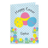 Personalised Happy Easter Egg Card - Personalise It!