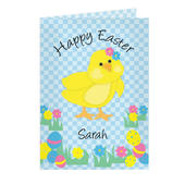 Personalised Happy Easter Chick Card - Personalise It!