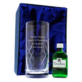 Personalised Cut Crystal & Gin Gift Set - Personalise It!