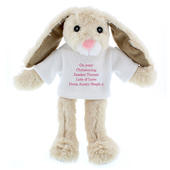 Personalised Message Bunny Rabbit In Jumper - Pink - Personalise It!