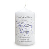 Personalised Wedding Day Candle - Personalise It!