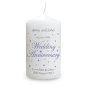 Personalised Anniversary Candle - Personalise It!
