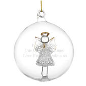Personalised Glass Christmas Angel Bauble - Personalise It!