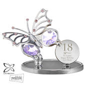 Personalised Swirls & Hearts Birthday Crystocraft Butterfly - Personalise It!