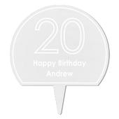 Personalised Contemporary Age Cake Topper - Personalise It!