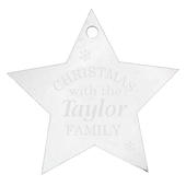 Personalised Acrylic Christmas Star Decoration - Personalise It!