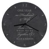 Personalised Anniversary Slate Clock - Personalise It!