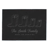 Personalised Welly Boot Family of Four Slate - Personalise It!