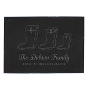 Personalised Welly Boot Family of Three Slate - Personalise It!