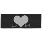 Personalised Two Hearts Slate Placemat Set - Personalise It!