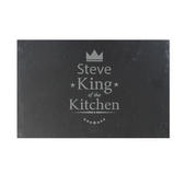 Personalised King of the Kitchen Slate Placemat - Personalise It!