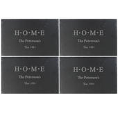 Personalised HOME Slate Rectangle Placemat 4 Pack - Personalise It!