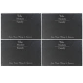 Personalised Family Slate Rectangle Placemat 4 Pack - Personalise It!